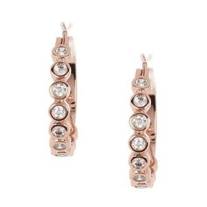 NWT Kate Spade Full Circle Rose Gold Earrings